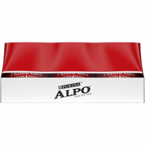 Purina Alpo Prime Cuts Beef and Lamb & Rice Wet Adult Dog Food Variety Pack Perspective: right