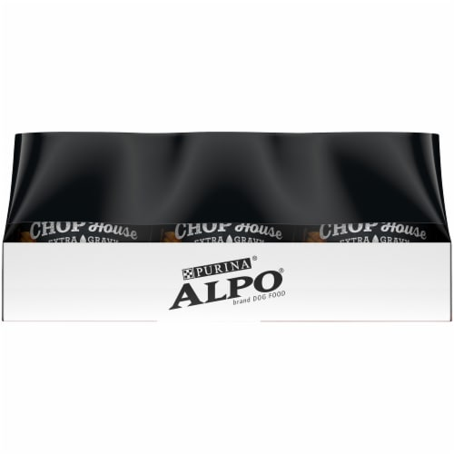 Purina Alpo Chop House Steak and Chicken in Gourmet Gravy Wet Adult Dog Food Variety Pack Perspective: right