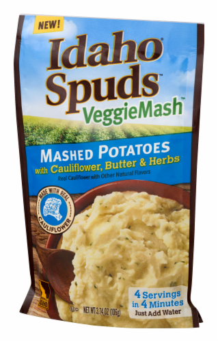 Idaho Spuds VeggieMash Mashed Potatoes with Cauliflower Butter & Herbs Perspective: right