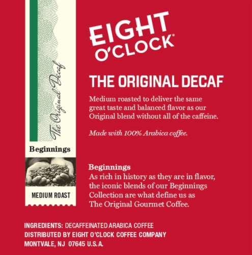 Eight O'Clock® The Original Decaf Medium Roast Coffee K-Cup Pods Perspective: right