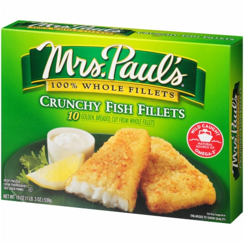 Mrs. Paul's Crunchy Fish Fillets 10 Count Perspective: right