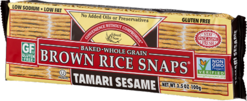 Edward & Sons Tamari Sesame Brown Rice Snaps Perspective: right