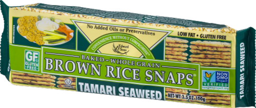 Edward & Sons Tamari Seaweed Brown Rice Snaps Perspective: right