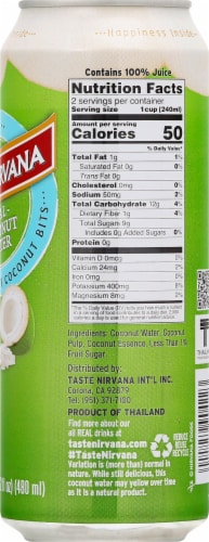 Taste Nirvana Real Coconut Water with Pulp Perspective: right