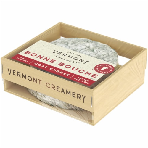 Vermont Creamery Bonne Bouche Ash-Ripened Goat Cheese Perspective: right