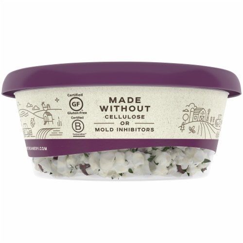 Vermont Creamery Cranberry & Tarragon Crumbled Goat Cheese Perspective: right