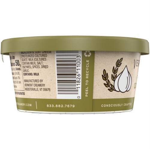 Vermont Creamery Garlic & Herb Goat Cheese Dip Perspective: right