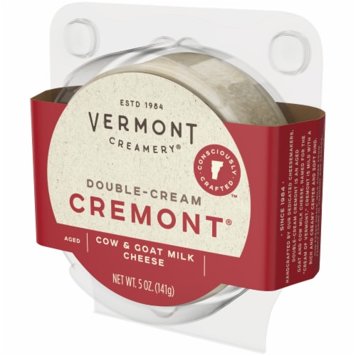 Vermont Creamery Double Cream Aged Goat & Cow Milk Cremont Perspective: right
