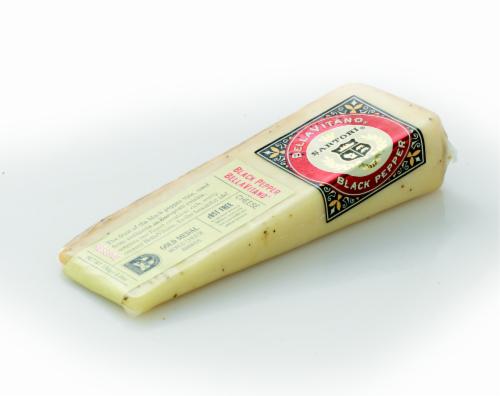 Sartori BellaVitano Black Pepper Cheese Perspective: right