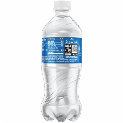 Aquafina Purified Bottled Water Bottle Perspective: right