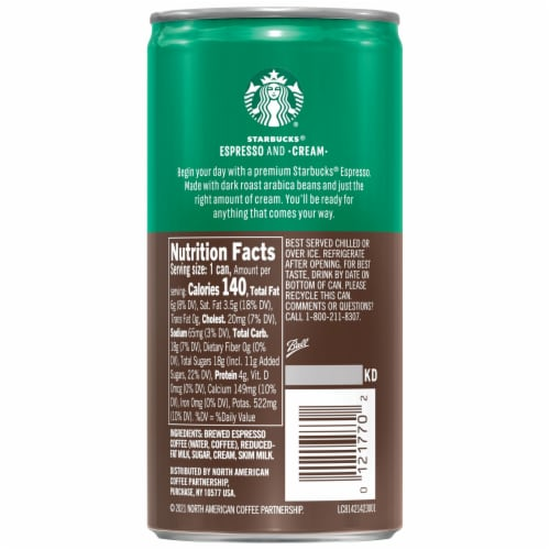 Starbucks Doubleshot Espresso & Cream Premium Espresso Beverage Perspective: right