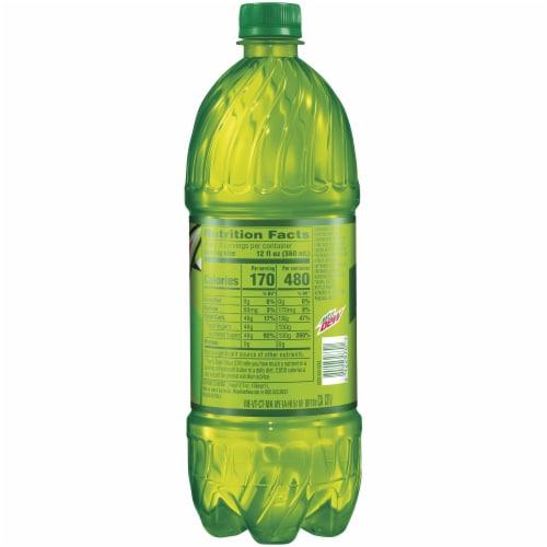Mountain Dew Citrus Soda 1 Liter Bottle Perspective: right