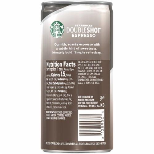 Starbucks Doubleshot Energy Drink Americano Black Premium Espresso Iced Coffee Perspective: right