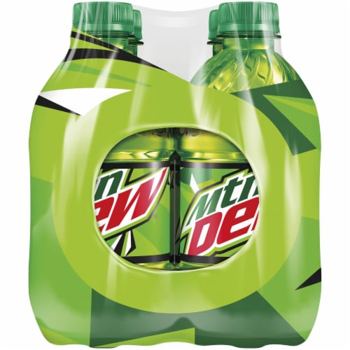 Mountain Dew Soda 8 Pack Bottles Perspective: right