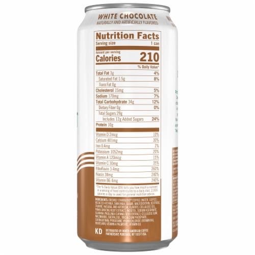 Starbucks Doubleshot Energy Drink White Chocolate Iced Coffee Perspective: right