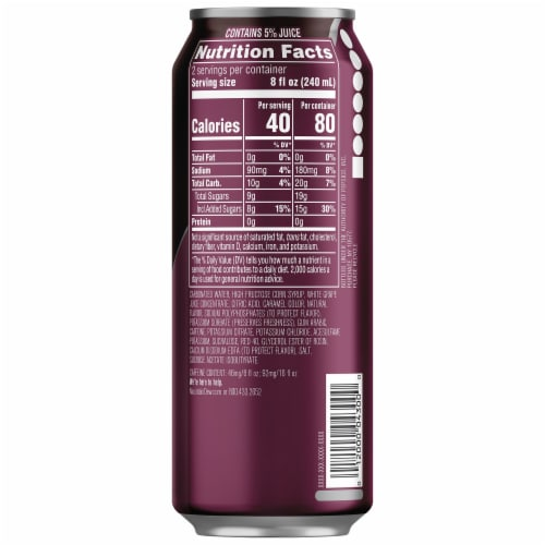 Mountain Dew Kickstart Black Cherry Energy Drink Can Perspective: right