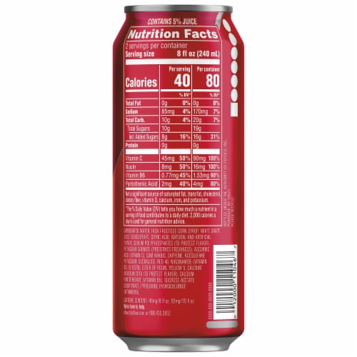 Mountain Dew® Kickstart Fruit Punch Energy Drink Can Perspective: right
