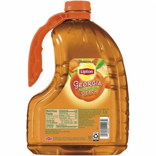 Lipton Georgia Style Peach Iced Tea Perspective: right