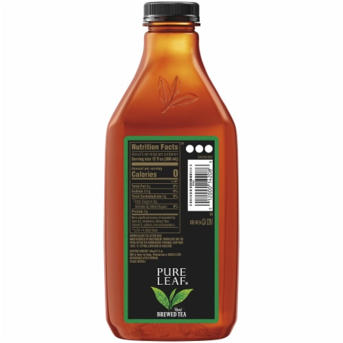 Pure Leaf Unsweetened Black Brewed Iced Tea Perspective: right