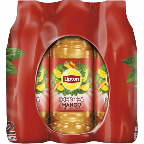 Lipton Mango Iced Tea 12 Count Bottles Perspective: right