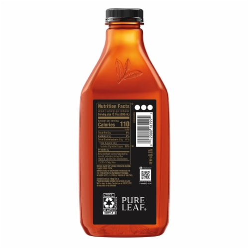 Pure Leaf Raspberry Brewed Iced Tea Bottle Perspective: right