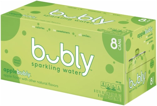 bubly Sparkling Water Apple 8 Pack Perspective: right