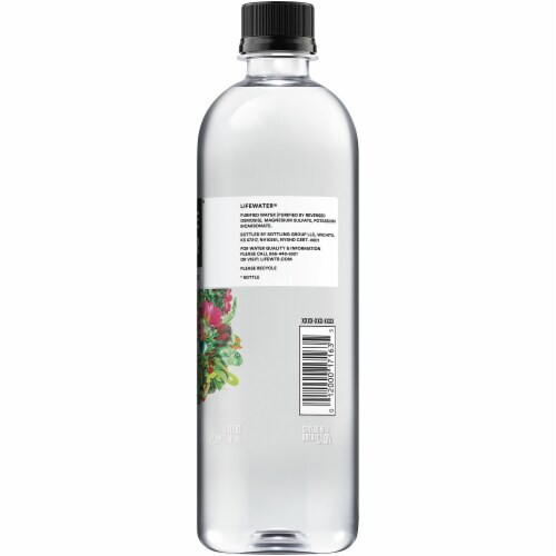 LIFEWTR Purified with Electrolytes Premium Life Water Bottle Perspective: right