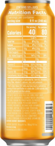 Mountain Dew Kickstart Pineapple Orange Mango Energy Drink 16 oz Can Perspective: right