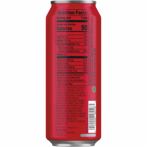 Mountain Dew Game Fuel Charged Cherry Burst Energy Drink Perspective: right