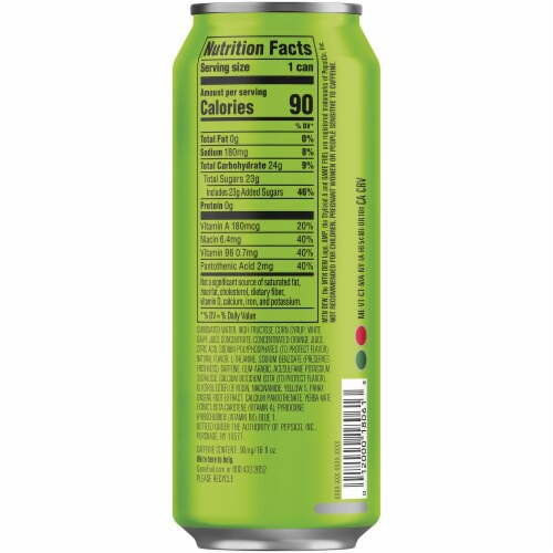 Mountain Dew Game Fuel Charged Original Dew Energy Drink Perspective: right