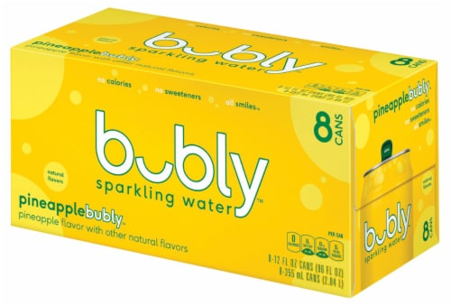bubly Pineapple Sparkling Water Perspective: right