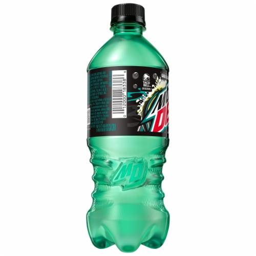 Mountain Dew Zero Sugar Baja Blast Soda Perspective: right