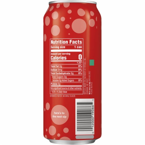 bubly Strawberry Flavor Sparkling Water Perspective: right