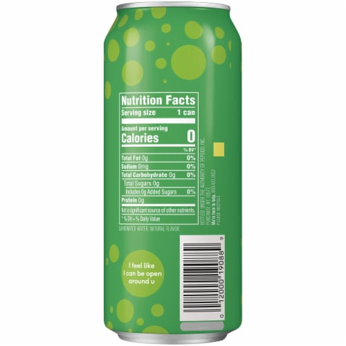 bubly Lime Sparkling Water Perspective: right