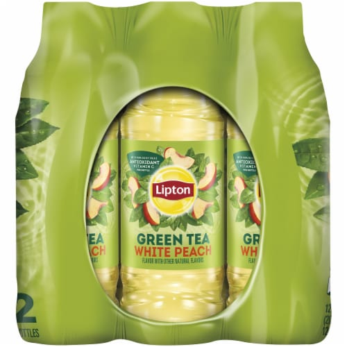 Lipton White Peach Iced Green Tea Perspective: right