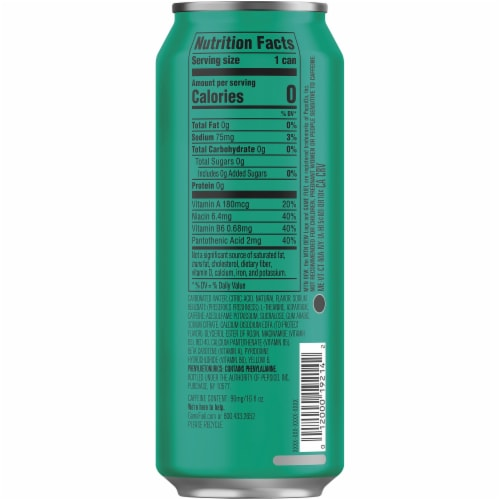 Mountain Dew Game Fuel Zero Calorie Watermelon Energy Drink 16 oz Can Perspective: right