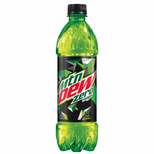 Mountain Dew Zero Sugar Soda 6 Pack Bottles Perspective: right