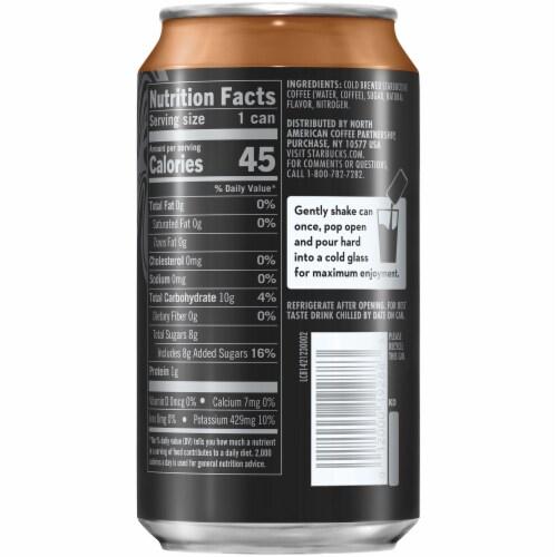 Starbucks Nitro Cold Brew Dark Caramel Premium Iced Coffee Drink Perspective: right