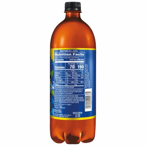 Brisk Iced Tea Lemon 1 Liter Bottle Perspective: right