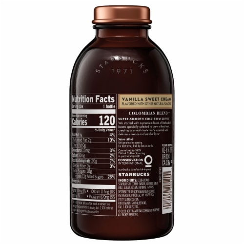 Starbucks Cold Brew Vanilla Sweet Cream Iced Coffee Drink Perspective: right