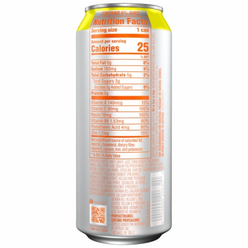 Mountain Dew Rise Orange Breeze Energy Drink Perspective: right