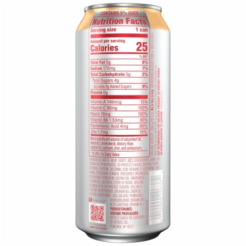 Mountain Dew Rise Peach Mango Energy Drink Perspective: right