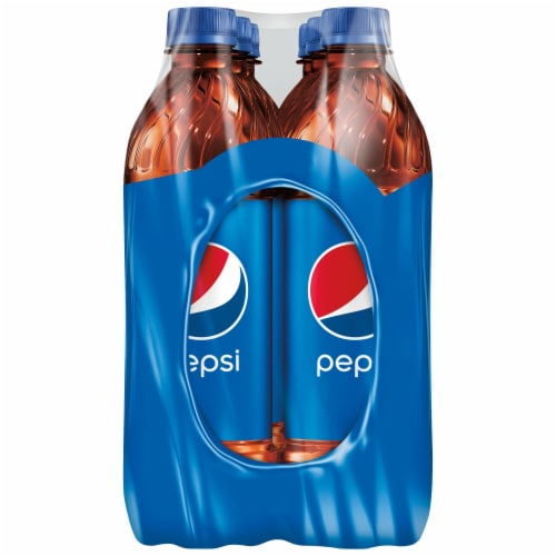 Pepsi Cola Soda 6 Pack Bottles Perspective: right