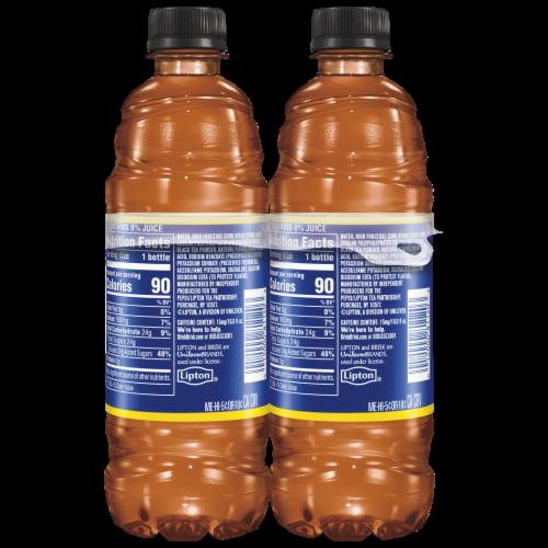 Lipton Brisk Lemon Iced Tea Bottles Perspective: right
