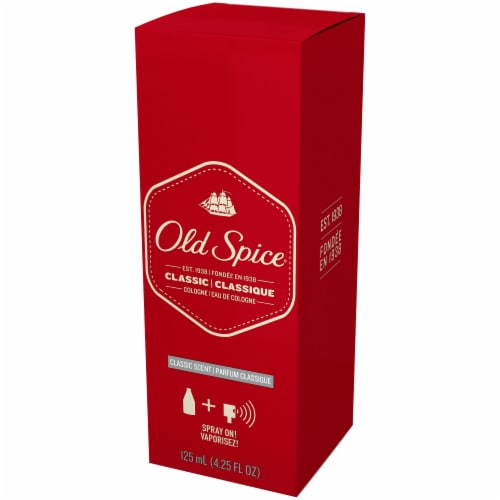 Old Spice Classic Scent Cologne Perspective: right