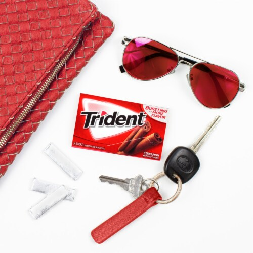 Trident Cinnamon Sugar Free Gum Perspective: right