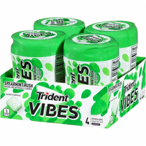 Trident Vibes Spearmint Rush Gum Perspective: right