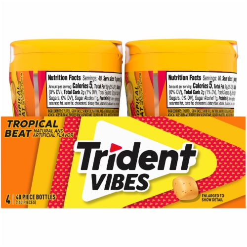 Trident Vibes Tropical Beat Gum Perspective: right