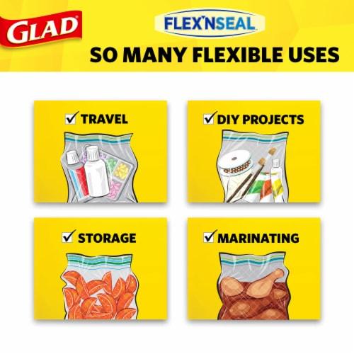 Glad® Flex'nseal Quart Freezer Storage Bags Perspective: right