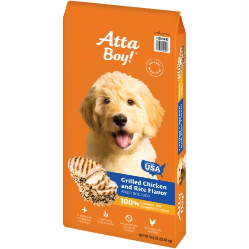 Atta Boy! Grilled Chicken & Rice Flavor Adult Dry Dog Food Perspective: right